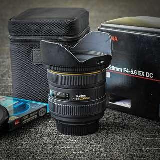 Sigma 10-20mm F4-5.6 EX DC HSM for Nikon