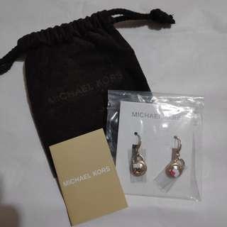 Michael Kors Logo Padlock Drop Earring