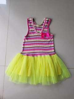 Colorful tutu dress for 2-3 yrs old
