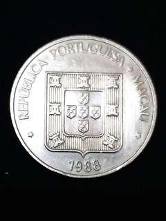 1988年澳門伍圓硬幣
