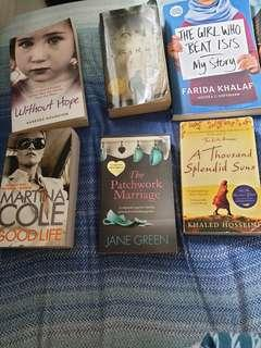 Assorted Books - $5 each, 3 for $10