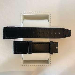 IWC Santoni Black Calf Skin strap 21mm