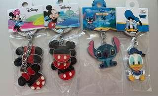 Disney Mickey, Minnie, Donald, Stitch keychains