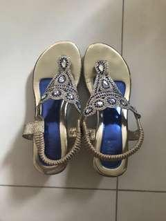Indian styled heels for girl