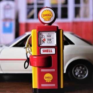 1940s Vintage Shell Gas Pump 1:18 Die-cast