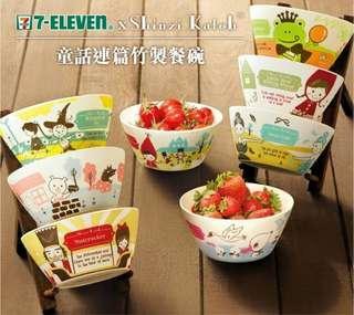 全新 7-11《佐餐の童話》竹製餐碗 Brand new 7-Eleven bamboo bowls