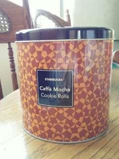 星巴克 二手圓形鐵罐/置物罐/空盒/收納盒/鐵盒