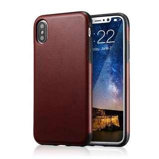 Technext020 Brown PU Leather Case - iPhone X