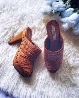 Zara Wooden Mules Wedges