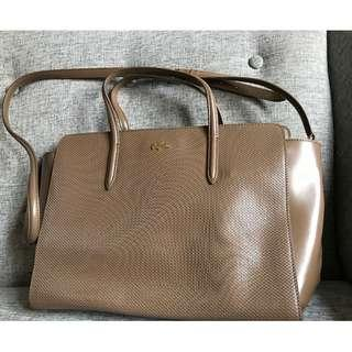 Lacoste Brown Leather Bag