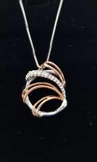 Rose White Gold Pendant & Necklace