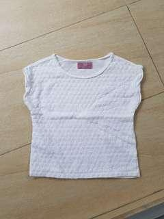 Mango (MNG) White Cotton Top for 3-4 yrs old