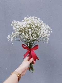 Bridesmaids Babybreath Bouquet