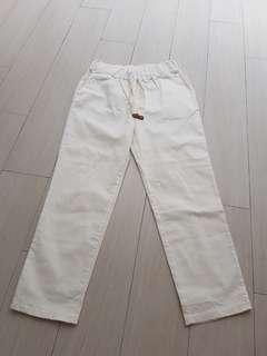 Oatmeal white jogger trousers