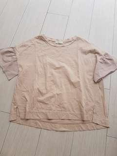 Earth nude blouse
