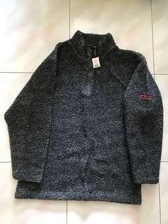 Unisex 1/4 zip ball fleece sweater