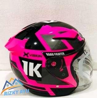 helm nhk R1 motif neuro pink pluorecnt