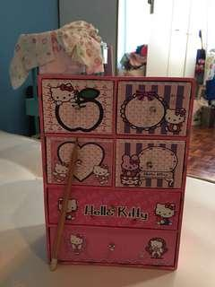 Hello kitty Make up or hair accessories drawer box