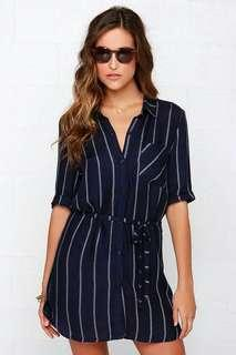 Navy Blue stripe dress