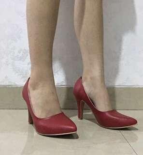 Red Pointy Heels