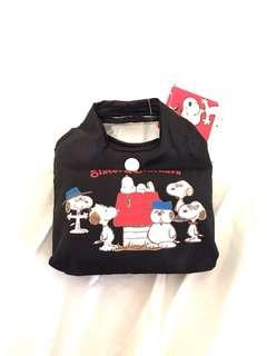 Snoopy reusable bag with tags on