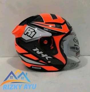 Helm nhk R1 motif giga orange