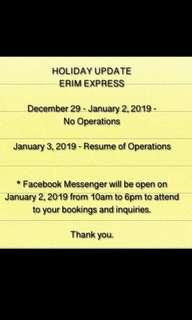 No Shipping Holiday for 2goexpress and LBC