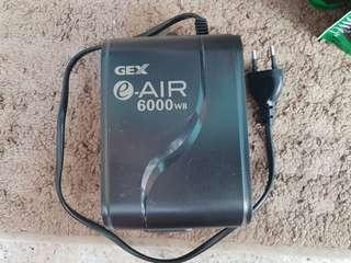 Gex aquarium air pump 6000wb