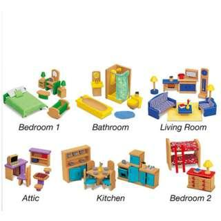Playground Doll House Furniture Set