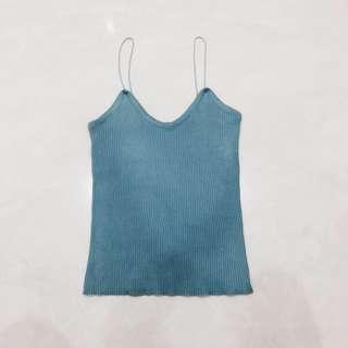 spaghetti strap ribbed tank top #Under9