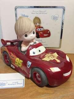 Precious Moments Disney Pixar Showcase Collections Boy with Car figurine : Keeping it Wheel