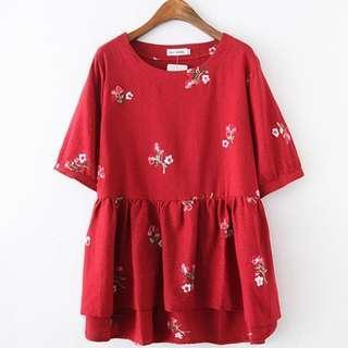 [CNY 2019 Collection] Pre Order [XL - 3XL] Plus Size Blouse