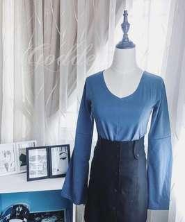 Classic blue long sleeve top