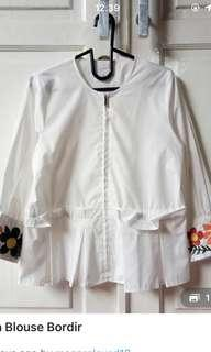 White bordir top