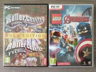 BN PC Games Marvel and Rollercoaster Tycoon 3