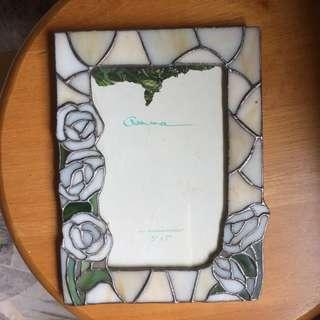 Photo frame stained glass