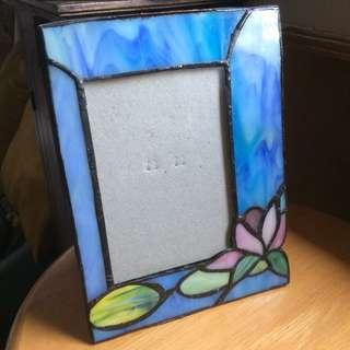 Photo Frame blue stained glass