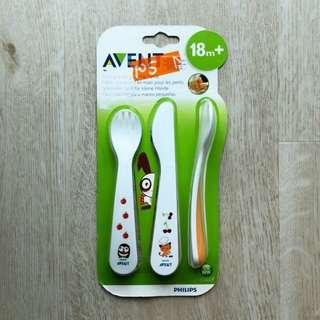 Brand New Avent Cutlery Spoon Fork Knife Set