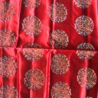 Chinese silk fabric red