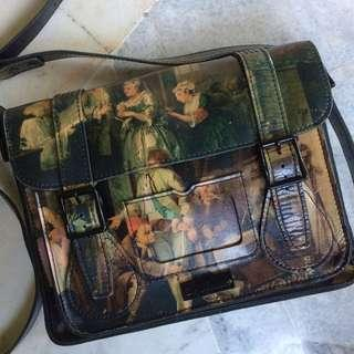 Dr marten satchel bag Painting a rakes William Hogarth