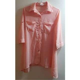 二手衣 杏色 罩衫 小外套 薄外套