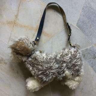Love on a leash dog hand bag