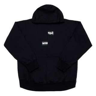 💯[IN STOCK-M,XL] Supreme CDG Split Box Logo Hoodie Black