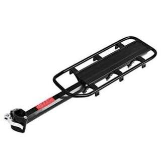 QUICK RELEASE BICYCLE CARRIER REAR RACK PALLET SHELF BACKSEAT CYCLING ACCESSORY (BLACK)