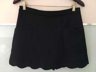 Black Mini Skirt (Skort)