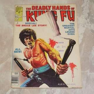 Deadly Hands Of Kung Fu 1976 Bruce Lee Life Story Original Art Comic Magazine USA