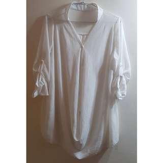 二手衣 白色 罩衫