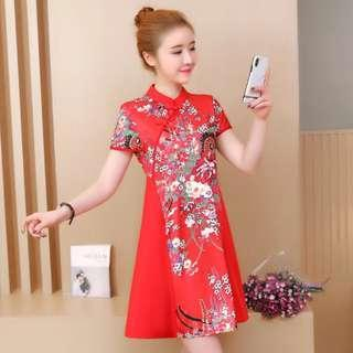 [CNY 2019 Collection] Pre Order [S - 3XL] Plus Size Cheongsam Dress