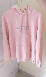 Supreme box logo hoodie - Dusty Pink