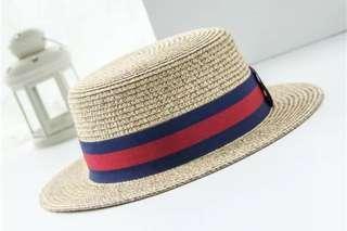 🚚 渡假英倫男式草帽(帽圍58-60cm)